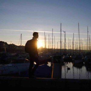 Port Genève coucher de soleil