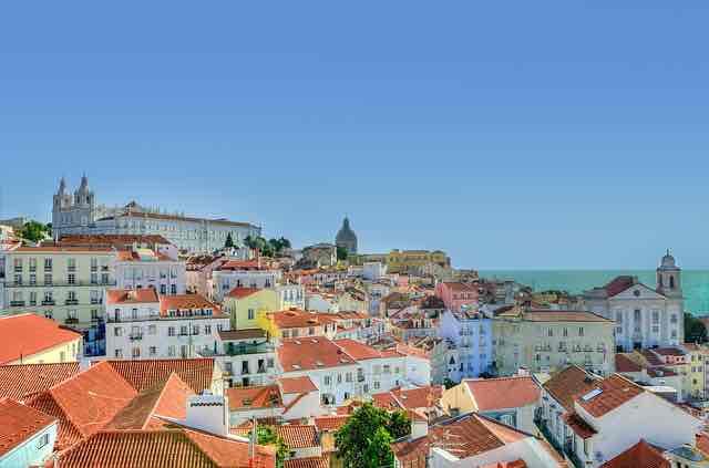 Lisbonne ville ensoleillé