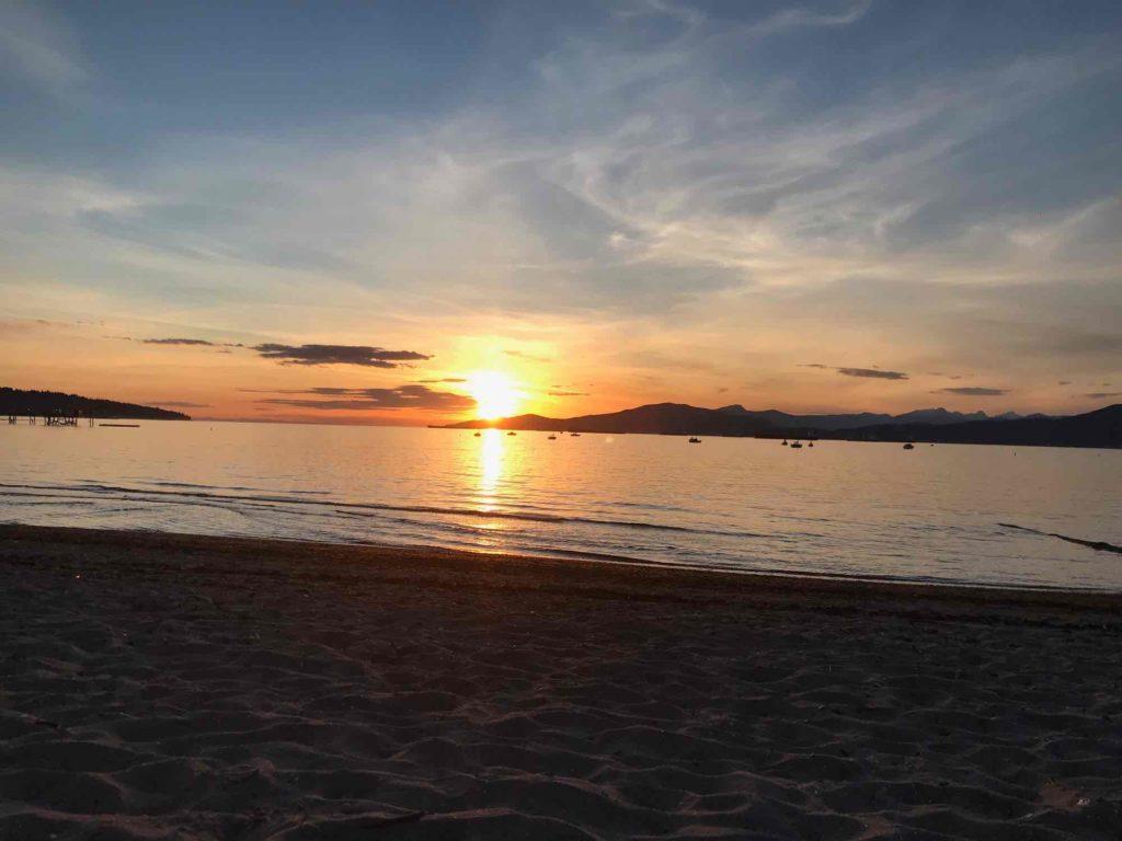 Coucher de soleil vancouver Plage du quartier Kitsilano