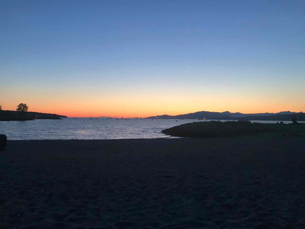 Photo Sunset beach Vancouver Canada coucher soleil