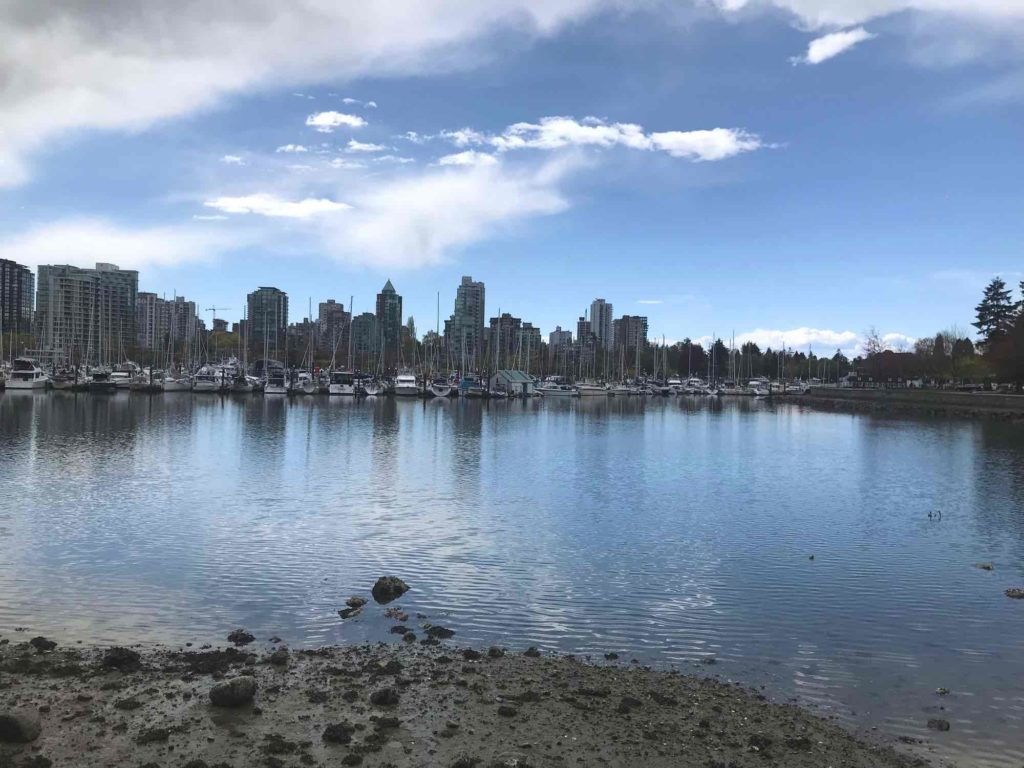 Vancouver en vélo Vue de Vancouver depuis le Stanley park