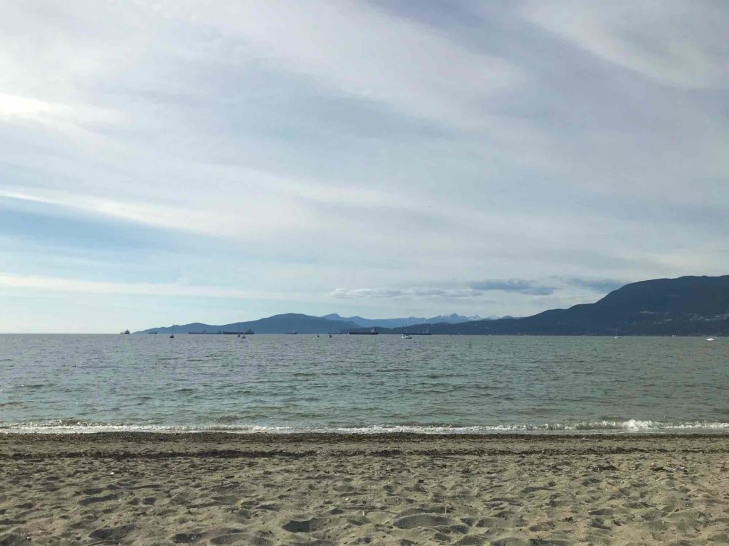 Photo plage u quartier Kitsilano Vancouver Canada
