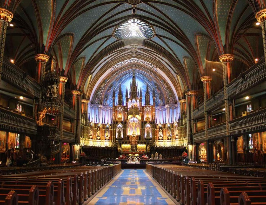 Que faire à Montreal ? Guide incontournables basilique Notre Dame