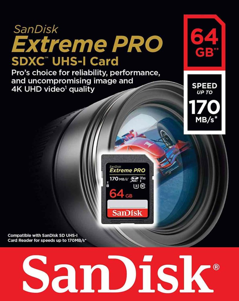 Carte SD pour vidéo 4K SanDisk