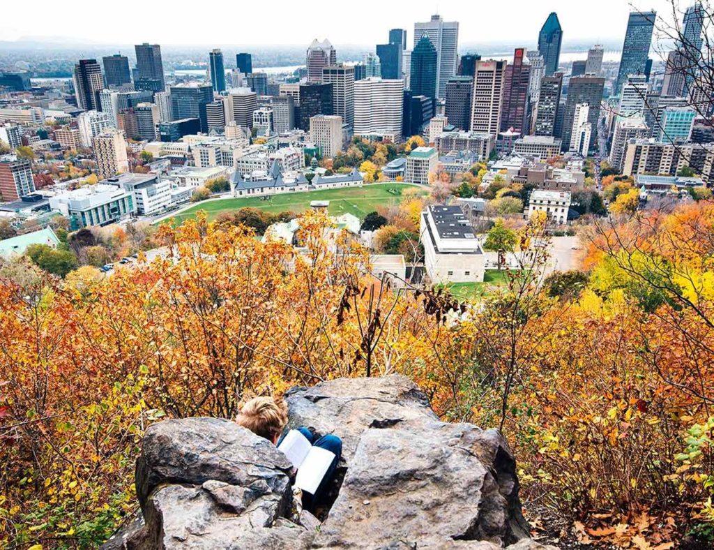 Visiter Montréal, le parc du Mont royal