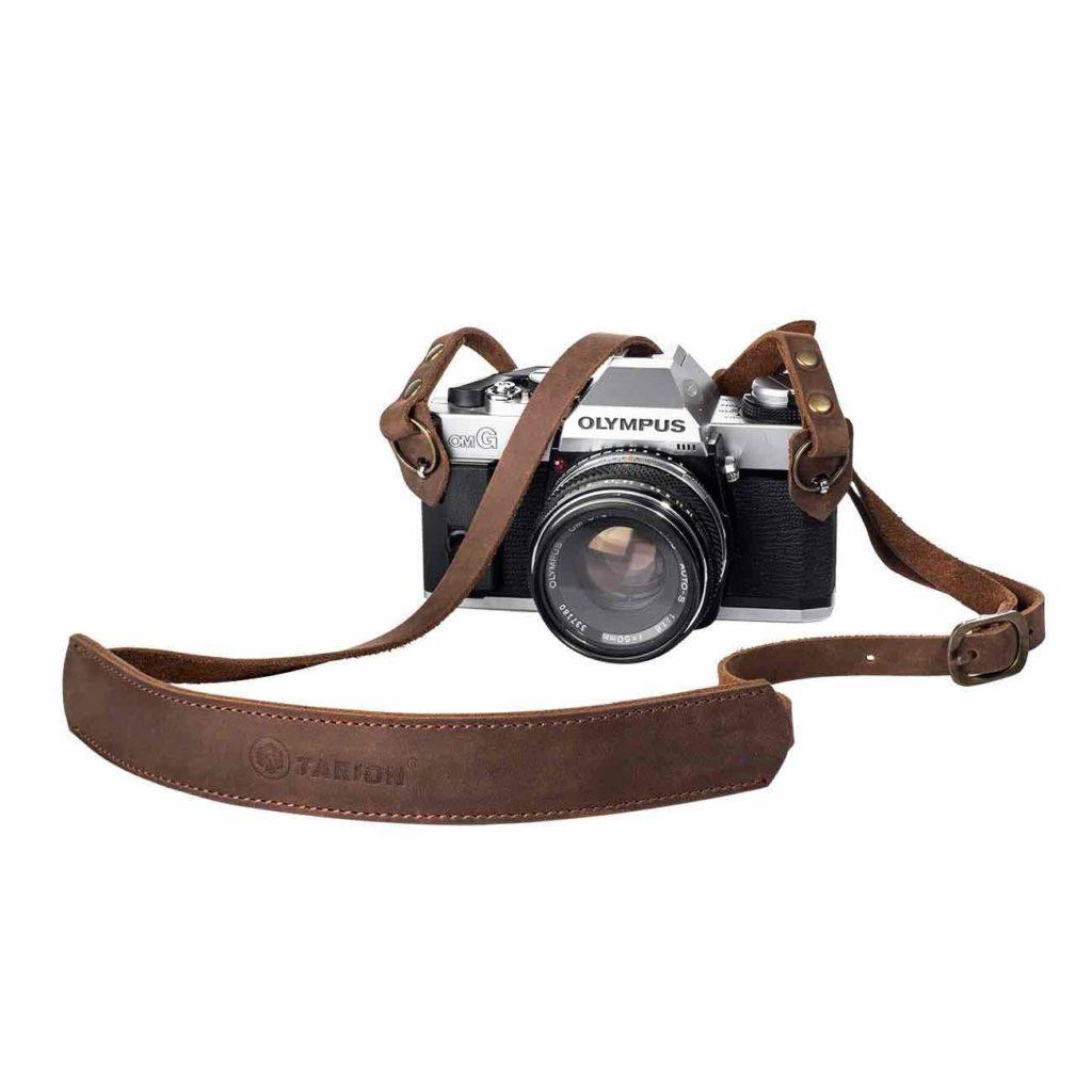 Courroie lanière cuire appareil photo