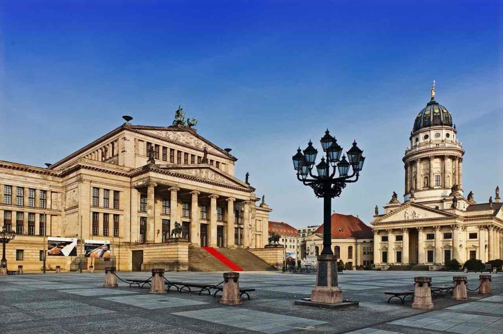 Photo de la place Gendarmenmarkt de Berlin