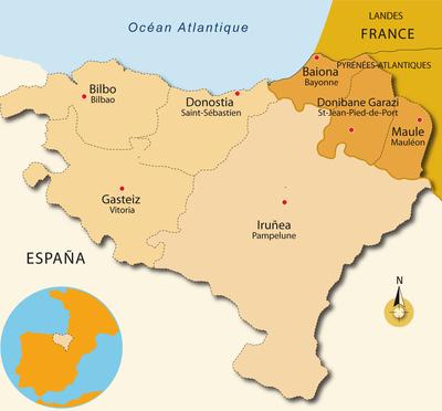 Carte du Pays Basque espagnol
