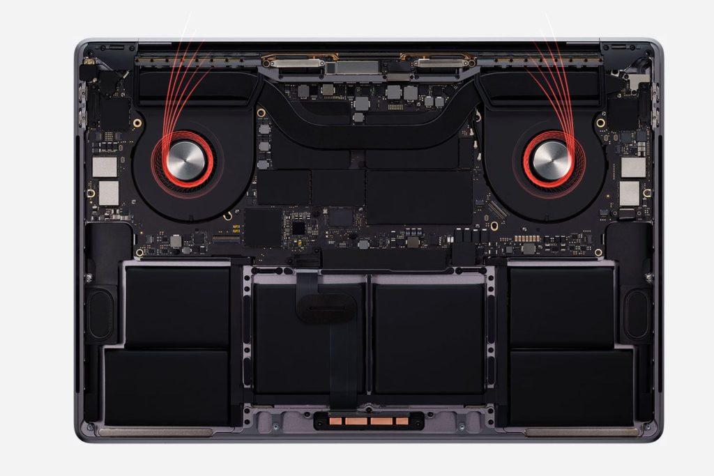 Gestion Chaleur MacBook Pro 16 pouces