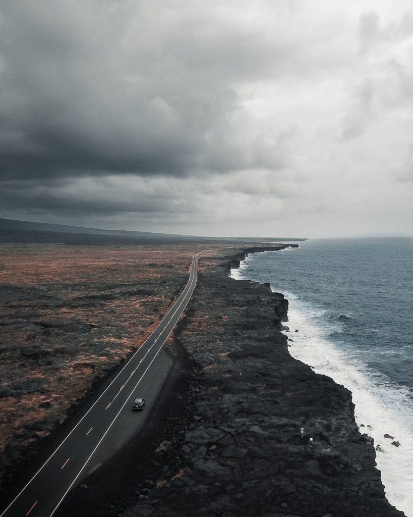 Parc des volcans route Hawai