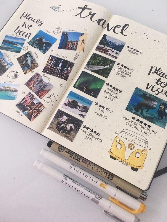 Inspiration carnet de voyage