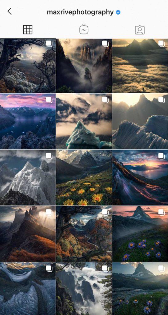 Avoir beau feed Instagram