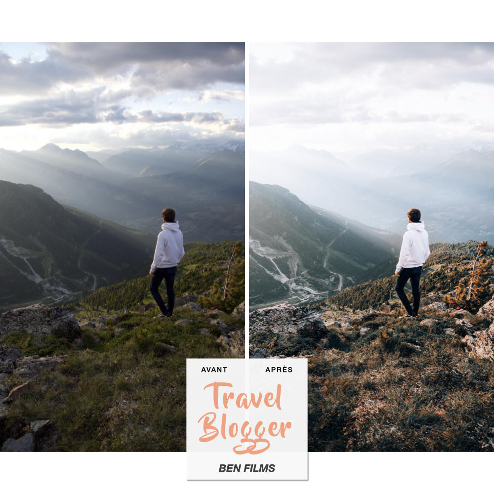 Preset lightroom de voyage Ben Films