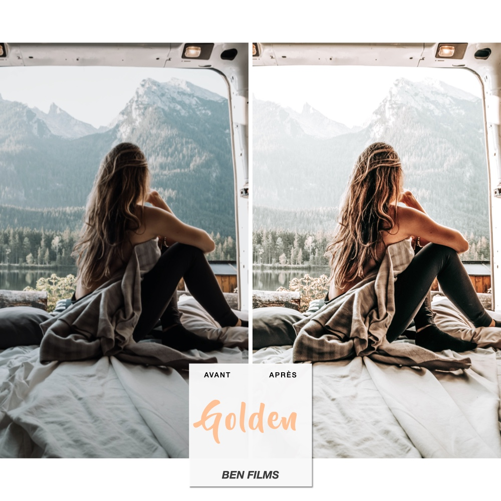 Presets Lightroom Mobile Golden chaleureux