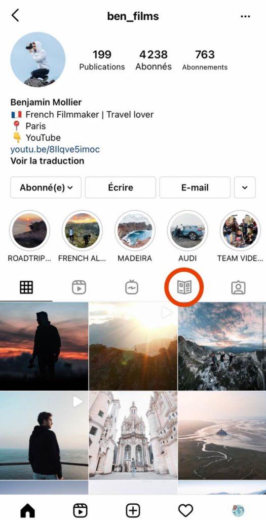Accéder aux Instagram Guides