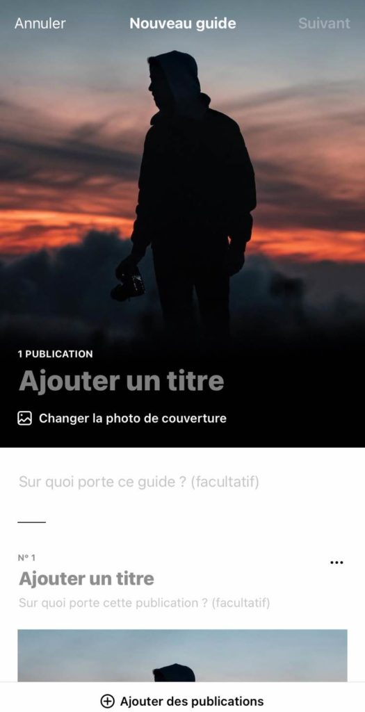 Choisir titre Guide Instagram