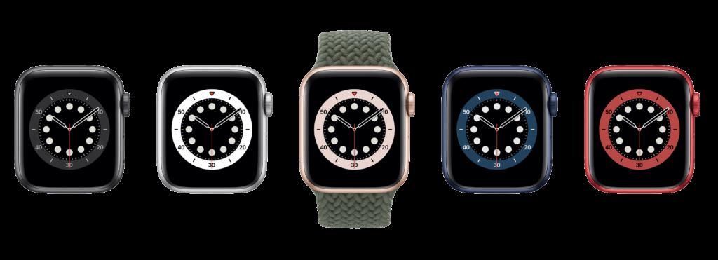 Couleurs Apple Watch Series 6