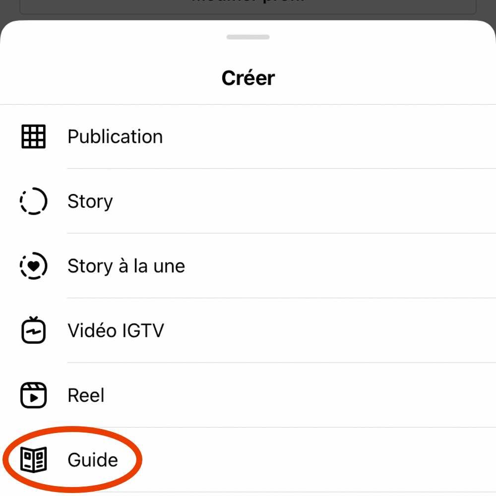 Création de Instagram Guides