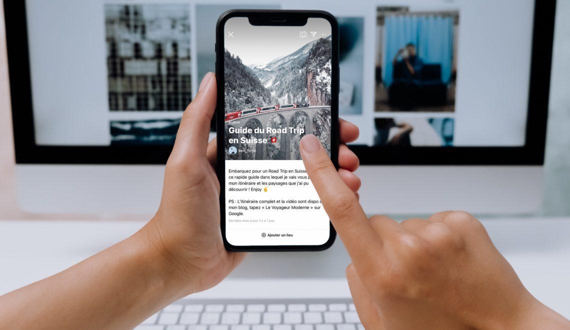 Tutoriel comment créer Instagram Guides français